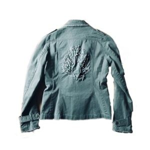 Urban Outfitters Angel Wing Military Cargo Jacket